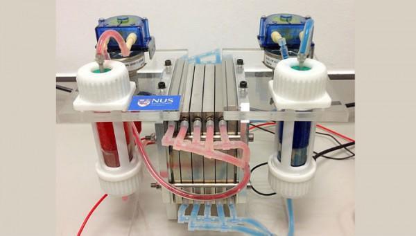 Действующая модель новой проточной батареи